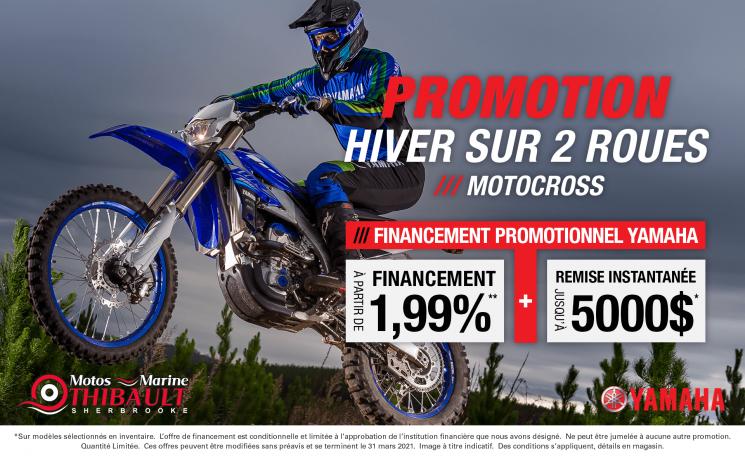 Yamaha – Hiver sur 2 roues (Motocross)