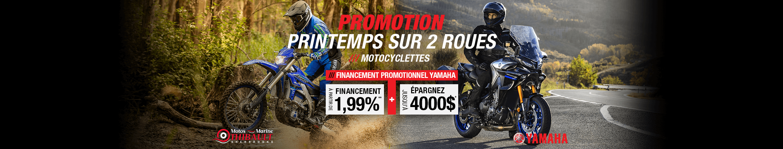Yamaha – Printemps sur 2 roues
