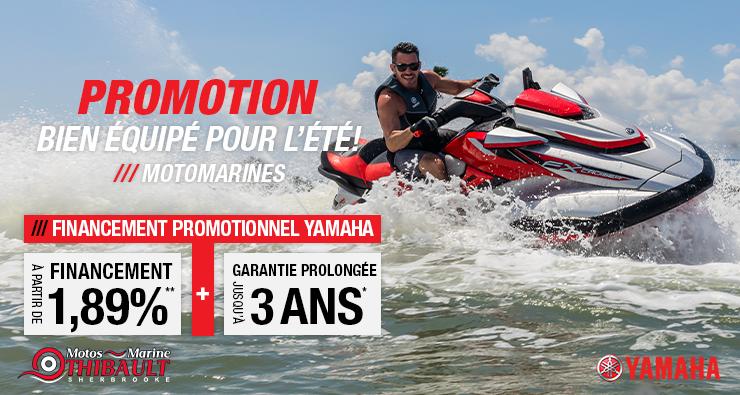 Yamaha – Bien équipé pour l'été!