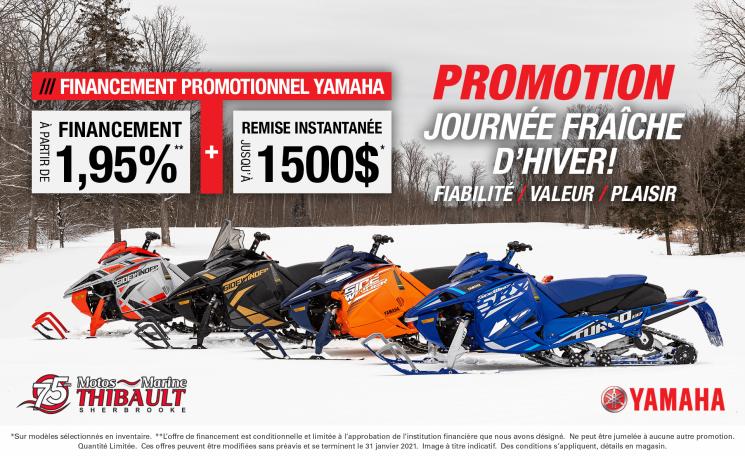 Yamaha – Journée fraîche d'hiver