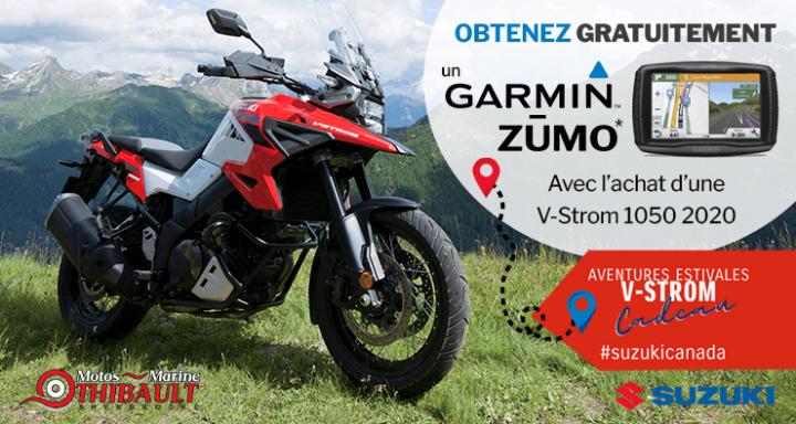 Suzuki V-Strom 1050 2020 – Obtenez un Garmin Zumo!