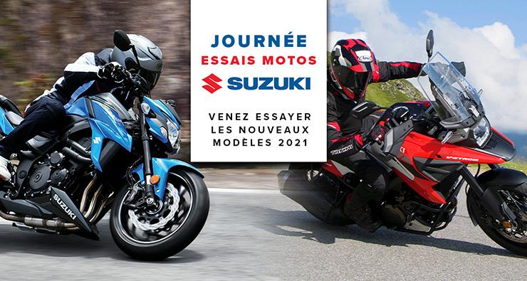 Événement journée essais motos Suzuki