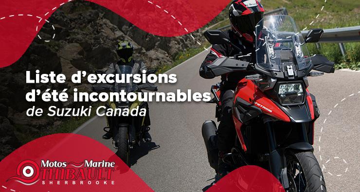 La liste des excursions d'été à ne pas manquer de Suzuki Canada